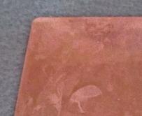 自然酸化皮膜が付着した銅板をエスクリーンS-800に5秒浸漬して酸化皮膜除去