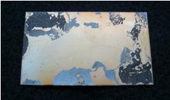 鉄板に付着した樹脂焼けを剥離・洗浄剥離処理前