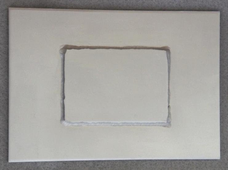 SUS304板の溶接焼け取り処理後