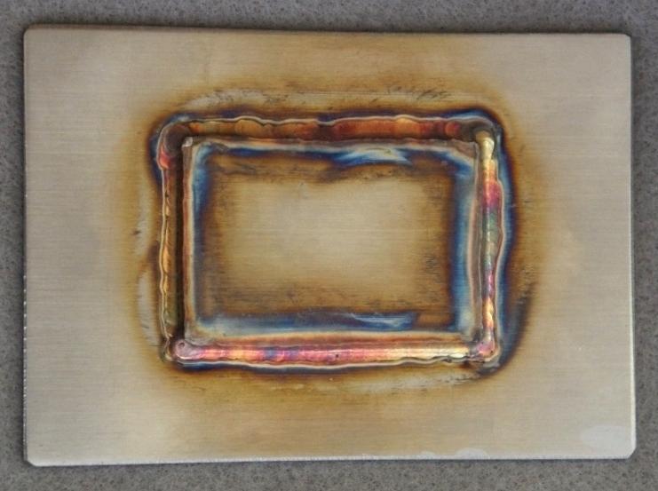 SUS304板の溶接焼け取り処理前