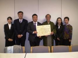 門川大作京都市長との記念撮影